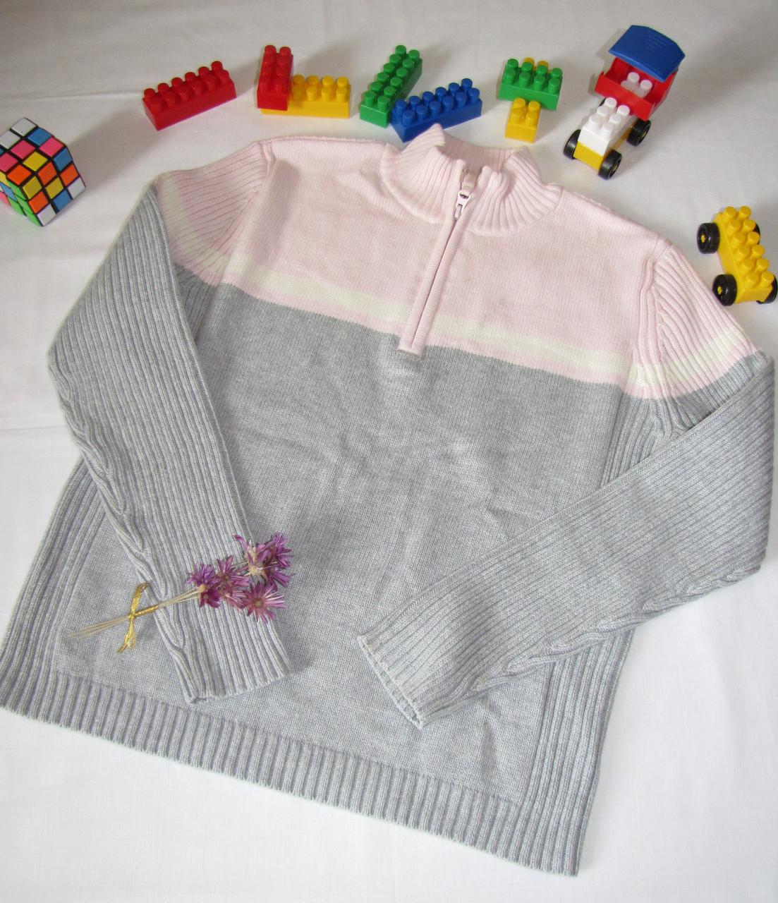 Вязаный свитер  St.John's Bay оригинал рост 146 см серый+розовый 07019