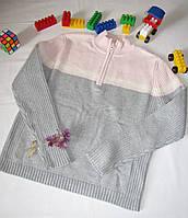 Вязаный свитер  St.John's Bay оригинал рост 146 см серый+розовый 07019, фото 1