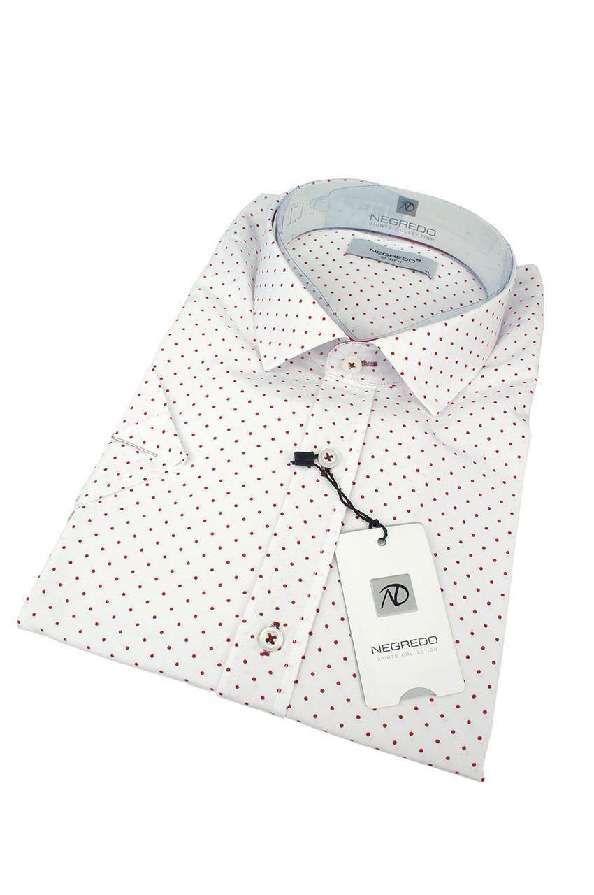 Мужская приталенная рубашка Negredo 1072 Н slim
