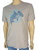 Мужская качественная футболка Fabianі 22296 бежевого цвета