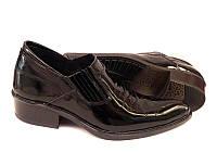 Туфли-казаки мужские Broni кожаные лаковые черные 0025БМ