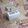 Коробка Белая для 2-ух кексов с окном Бабочка 170*85*90