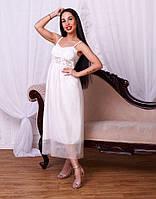 Очень красивое белое платье на тонких бретелях