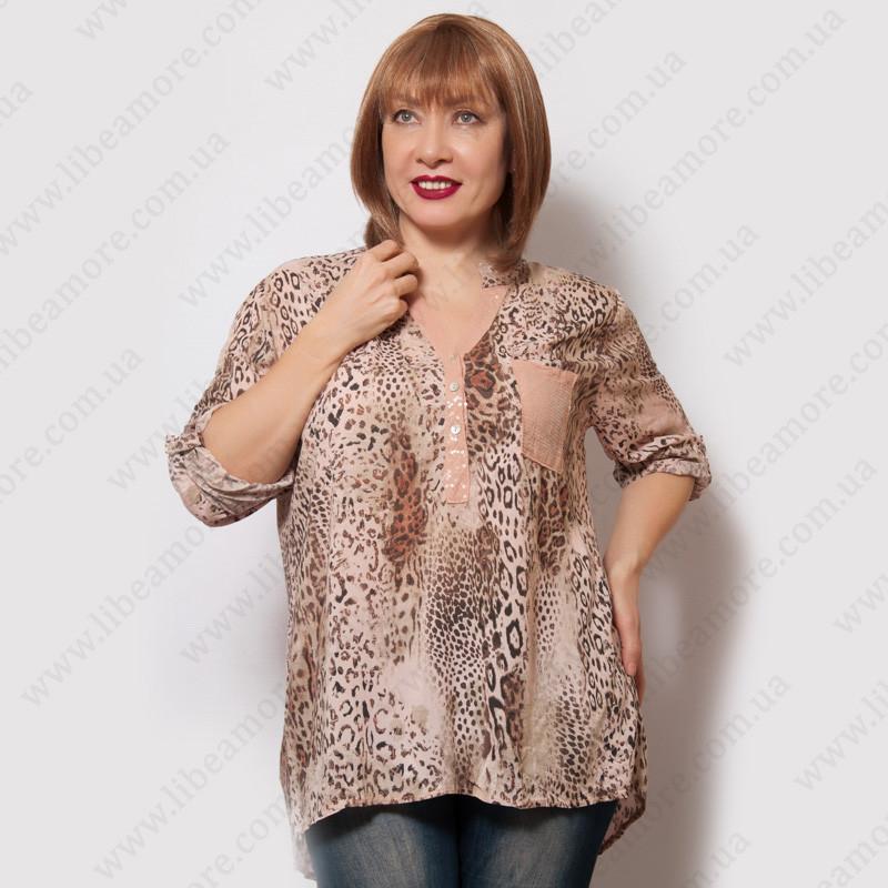 8f58d6621e5 Женская итальянская блузка из коттона - Интернет-магазин женской одежды  больших размеров