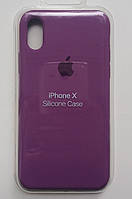 Силиконовый чехол Apple Silicone Case IPHONE Х / XS (Violet)