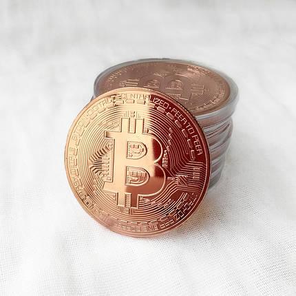 Монета сувенирная Bitcoin медная, фото 2