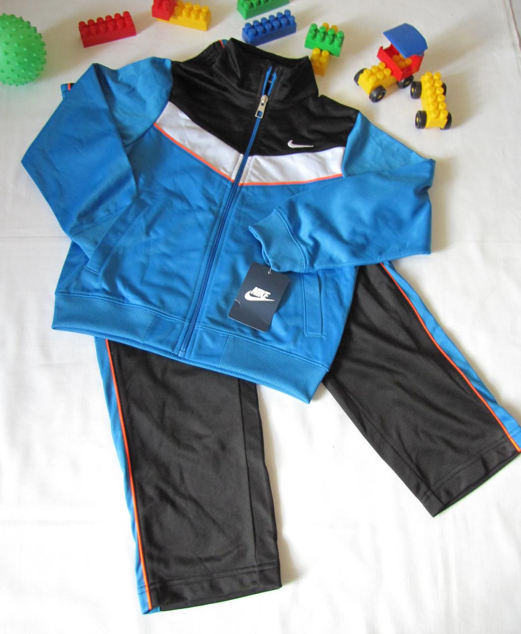 Спортивный костюм Nike оригинал рост 122 см синий+черный 07023