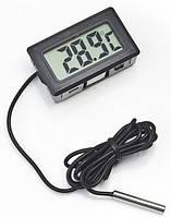 Цифровой термометр высокоточный с выносным датчиком ТМ-2 чёрный