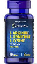 Puritan's Pride L-Arginine L-Ornithine L-Lysine 60 caplets