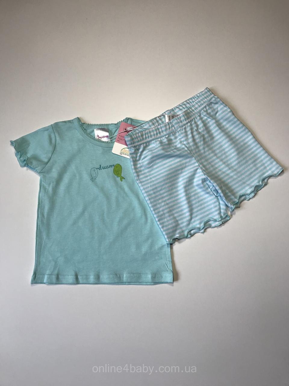Дитяча піжама, домашній костюм Impidimpi на дівчинку 2-6 міс, ріст 62-68