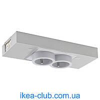 Двойной разъем USB IKEA УТРУСТА 702.793.29 цвет алюминия