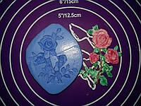 Силиконовый молд розы