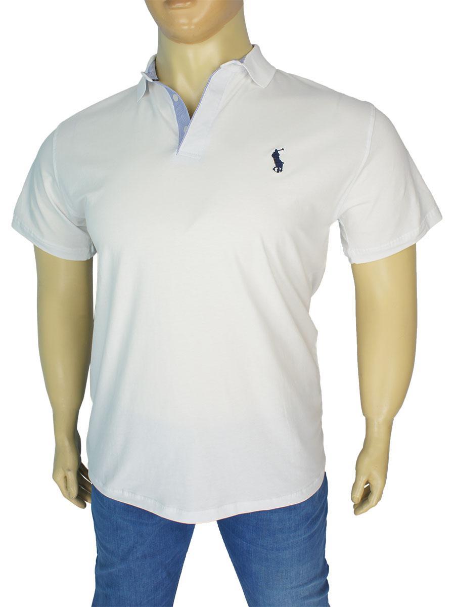 Біла чоловіча теніска копія P Ralph Lauren 404 B у великому розмірі