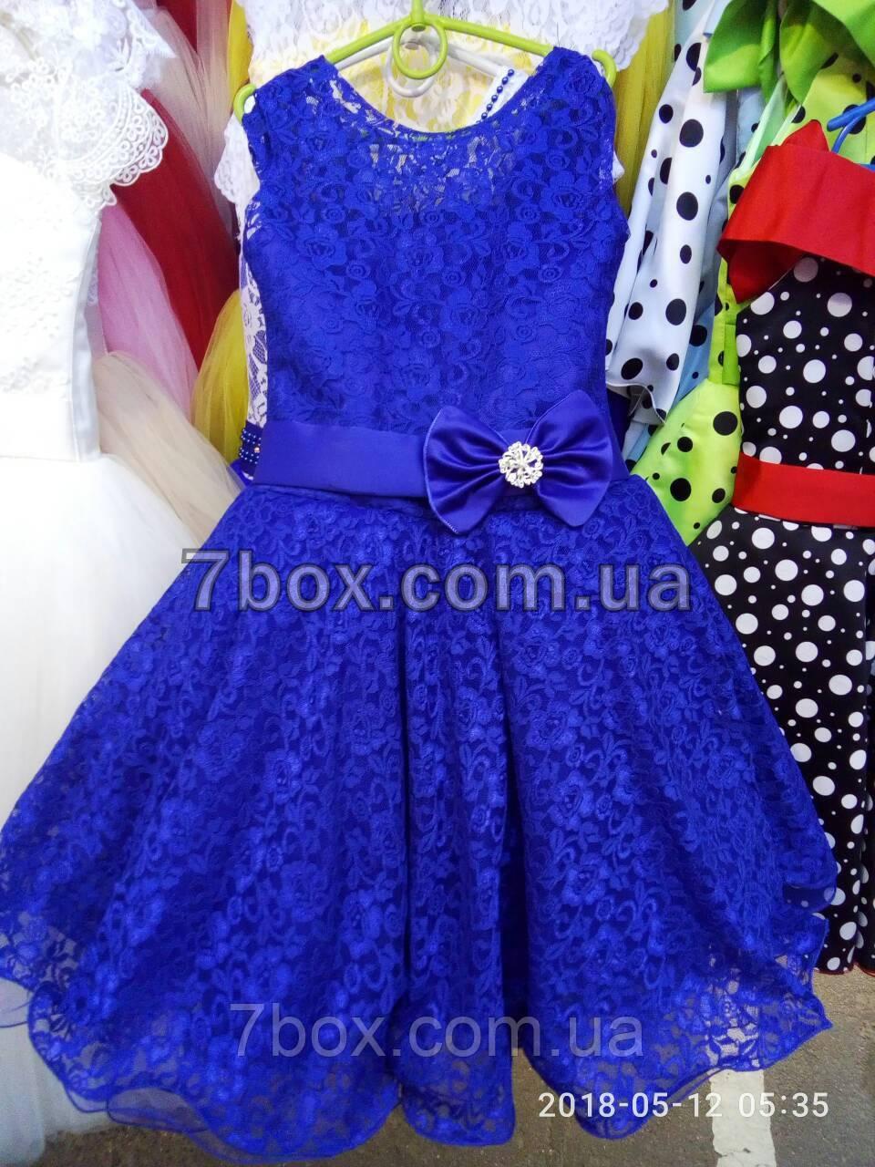 Дитяча сукня бальна Красотуля (синє) Вік 6 років.