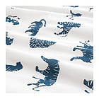 Комплект постельного белья IKEA URSKOG 150x200/50x60 см с рисунком тигра синий белый 003.950.25, фото 2