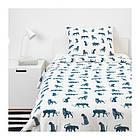 Комплект постельного белья IKEA URSKOG 150x200/50x60 см с рисунком тигра синий белый 003.950.25, фото 4