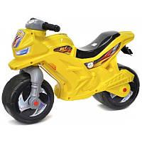 Детский мотоцикл-беговел (толокар каталка) Орион 501 желтый