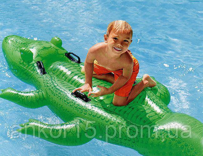 Надувной плотик Крокодил, Intex 58562