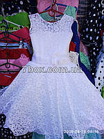 Детское нарядное платье бальное Красотуля (белое) Возраст 6 лет., фото 1