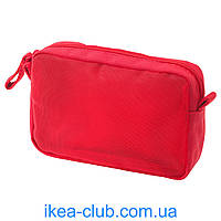 Сумочка д/аксессуаров IKEA ФОРФИНА 702.945.46 красный