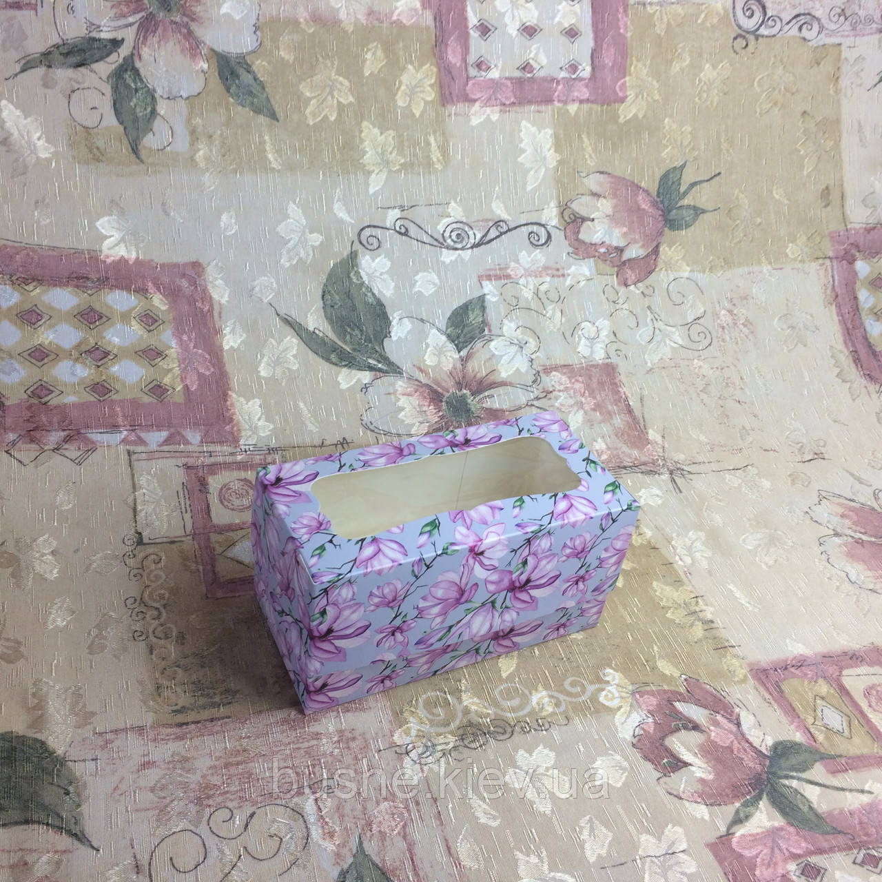 Коробка для 2-ух кексов / 170х85х90 мм / печать-Магн / окно-обычн / лк / цв