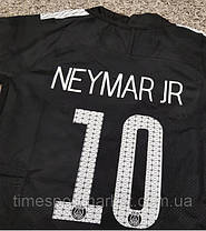 Форма для футбола ПСЖ 2017-2018 выездная черная НЕЙМАР синяя (супер качество), фото 2