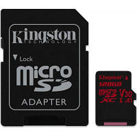 Карта памяти Kingston 128GB microSDXC class 10 UHS-I U3 (SDCR/128GB), фото 1