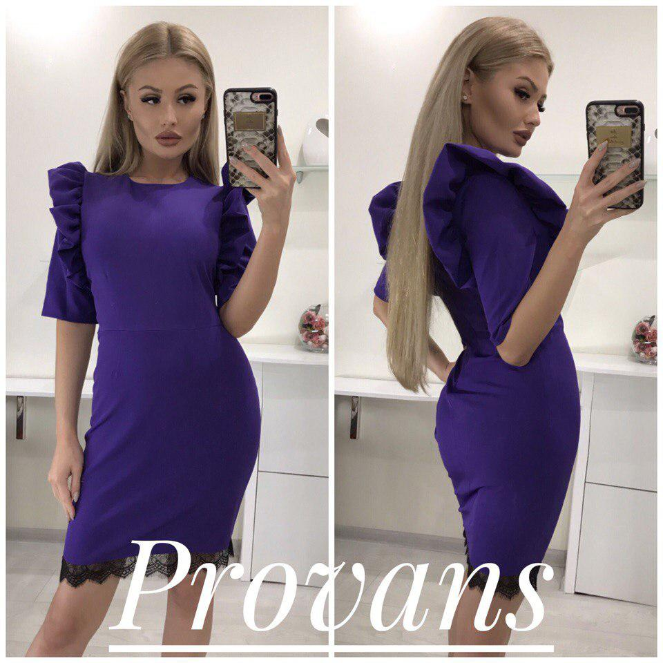 a3f1e1dfd59f Женское модное платье волан (42-46 р.)77П10005, цена 320 грн ...