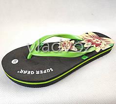 Женские сланцы вьетнамки шлепанцы пляжные черные 36р.