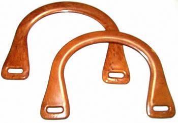 Ручки для сумки полукруглые 18*14 см, Под Дерево