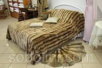 Покрывало, пледы и подушки из натурального меха