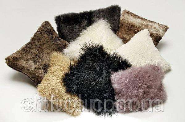 Меховые подушки украинского производства