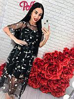 Стильное женское платье с цветочным принтом , фото 1