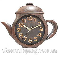 Часы настенные чайник ( 260 х 310 мм ) коричневый