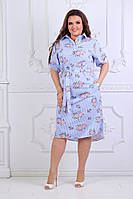 Платье -рубашка, 860 ЛБ батап(50-56), фото 1