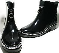 Осенняя обувь - сапоги резиновые женские