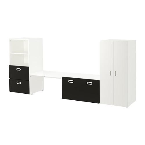 Комплект стеллажа, стола, комода и шкафа IKEA STUVA / FRITIDS 300x50x128 см черный 592.672.62