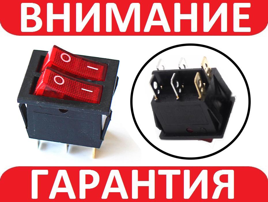 Двойной переключатель, кнопка с подсветкой AC KCD6 250В 15А