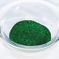 Глиттер (песок) для маникюра №9 Зеленый изумруд