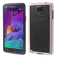 Чехол бампер TPU для Samsung Galaxy Note 4 N910 розовый