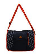 Сумка через плечо Adidas темно синий с оранжевым