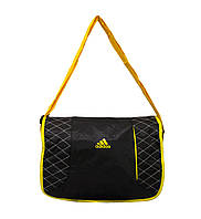 Сумка через плечо Adidas серая с желтым, фото 1