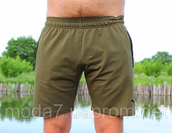 Шорты мужские хаки, зеленые Puma реплика, фото 2