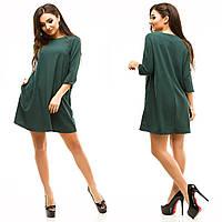 Женское классическое свободное платье с карманами , фото 1