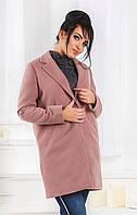 Пальто женское кашемировое батал  с468, фото 1
