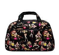 Дорожная сумка S, девушка 2 Цвета Черный
