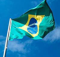 Флаг Бразилии 90х150см (видеообзор)