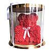 Мишка из латексных красных розочек, фото 4