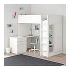 Кровать на мезонине IKEA STUVA / FRITIDS 207x99x182 см белый 792.532.59, фото 2