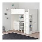 Кровать на мезонине IKEA STUVA / FRITIDS 207x99x182 см белый 792.532.59, фото 3